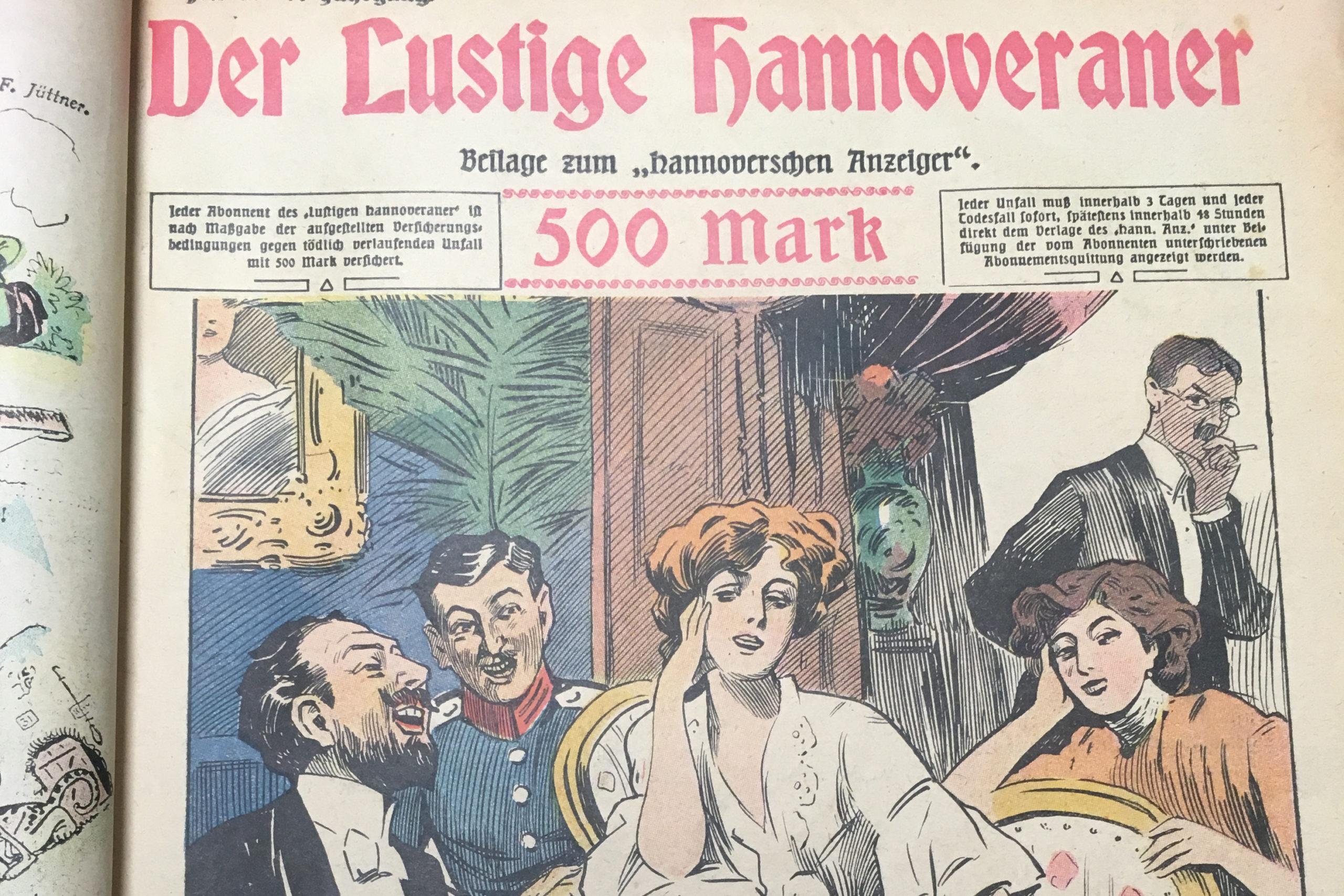 Scan: Titelblatt Der Lustige Hannoveraner. Historische Zeitungsbeilagen.